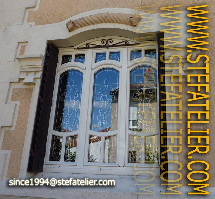 Restauration de vitraux art nouveau école de nancy
