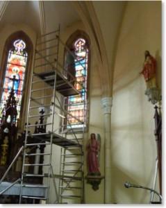Restauration vitrail d'église