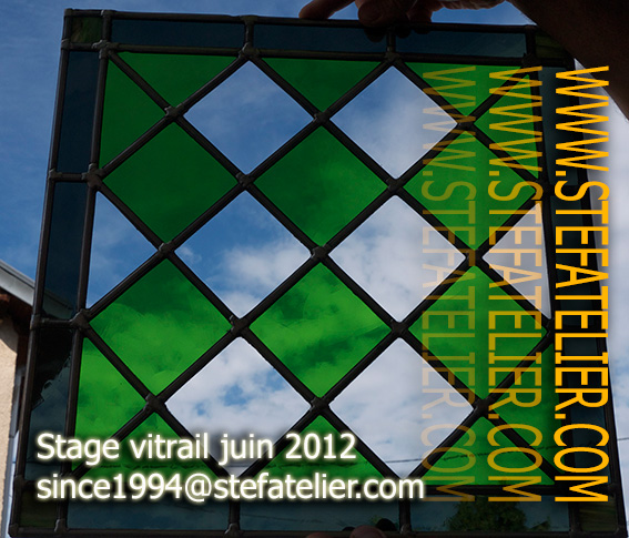 stage de vitrail juin 2012 stef atelier vitraux d art