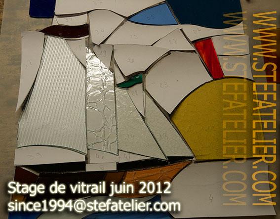 stage de vitrail juin 2012