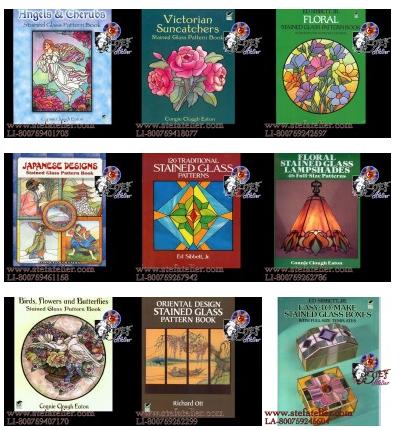 livres de modèles et de patrons pour le vitrail et les vitraux