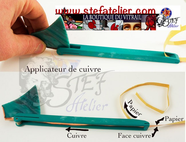 Applicateur de cuivre tiffany