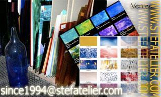 choix des couleurs et des matières des différents verres