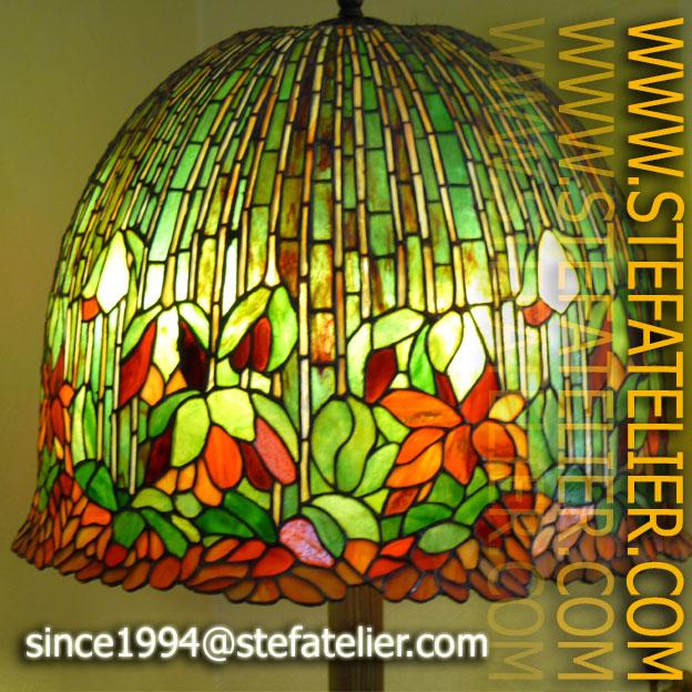 Lampe Tiffany 5 Stef Atelier Vitraux D Art