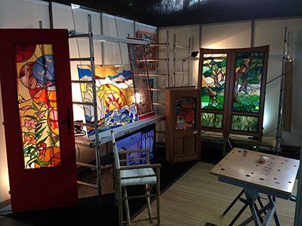 Stef atelier vitraux d art sur le salon habitat d co de for Est habitat nancy