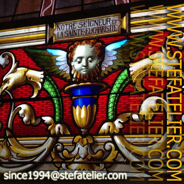 Restauration d'un vitrail de l'église de Viterne