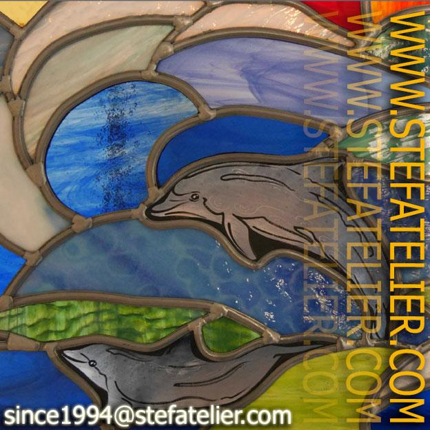 vitrail-ocean-dauphins
