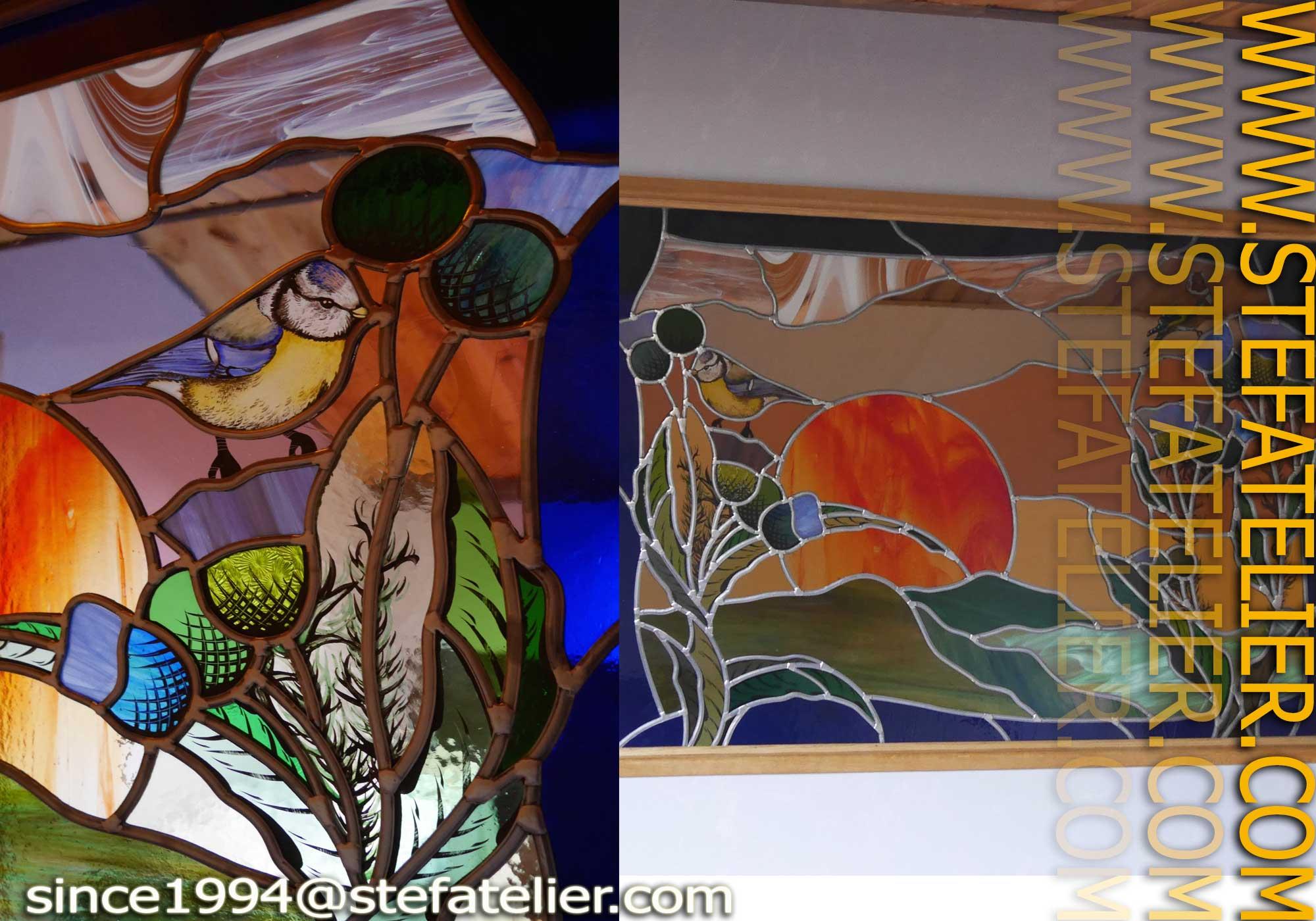 vitrail chardons stef atelier vitraux d art. Black Bedroom Furniture Sets. Home Design Ideas