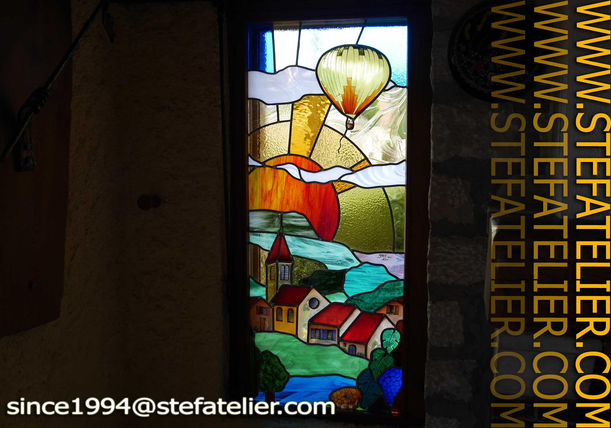 Ao t 2014 stef atelier vitraux d art for Fenetre en vitrail