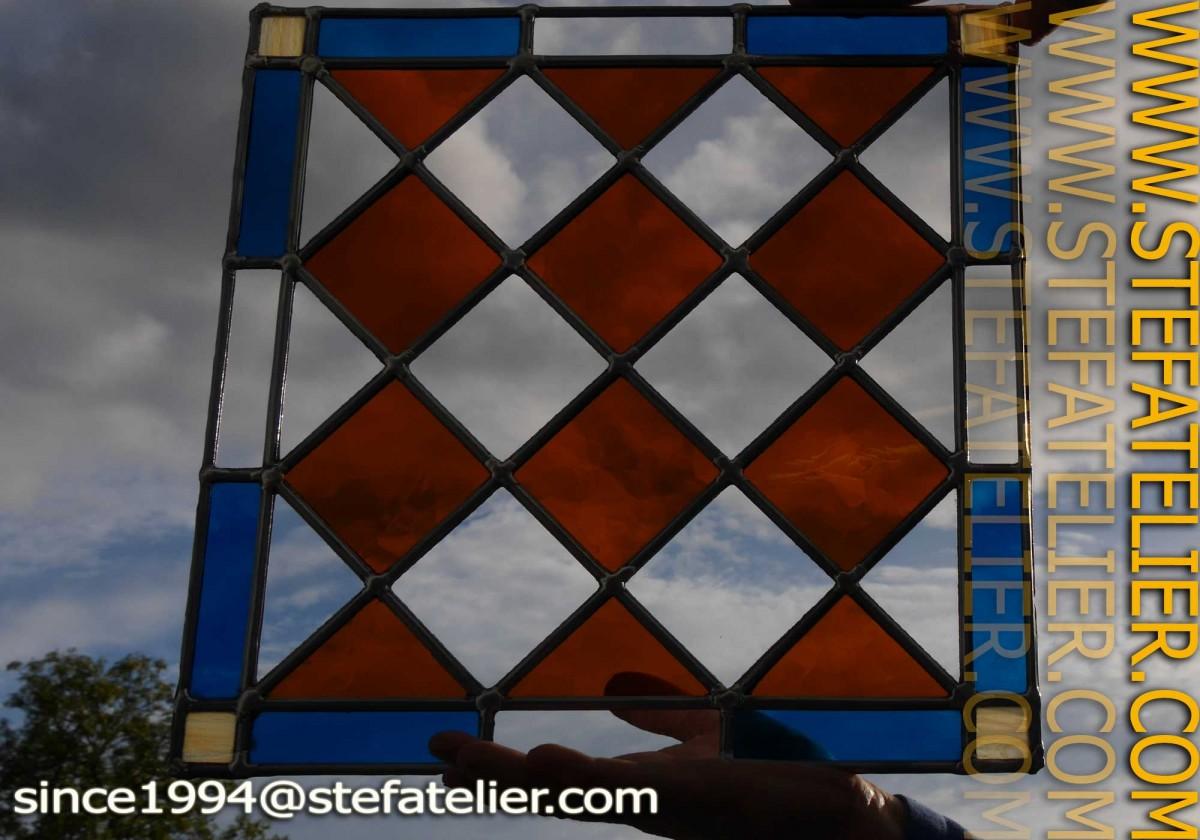 vitrail réalisé au cours du stage de vitrail d'ocotbre