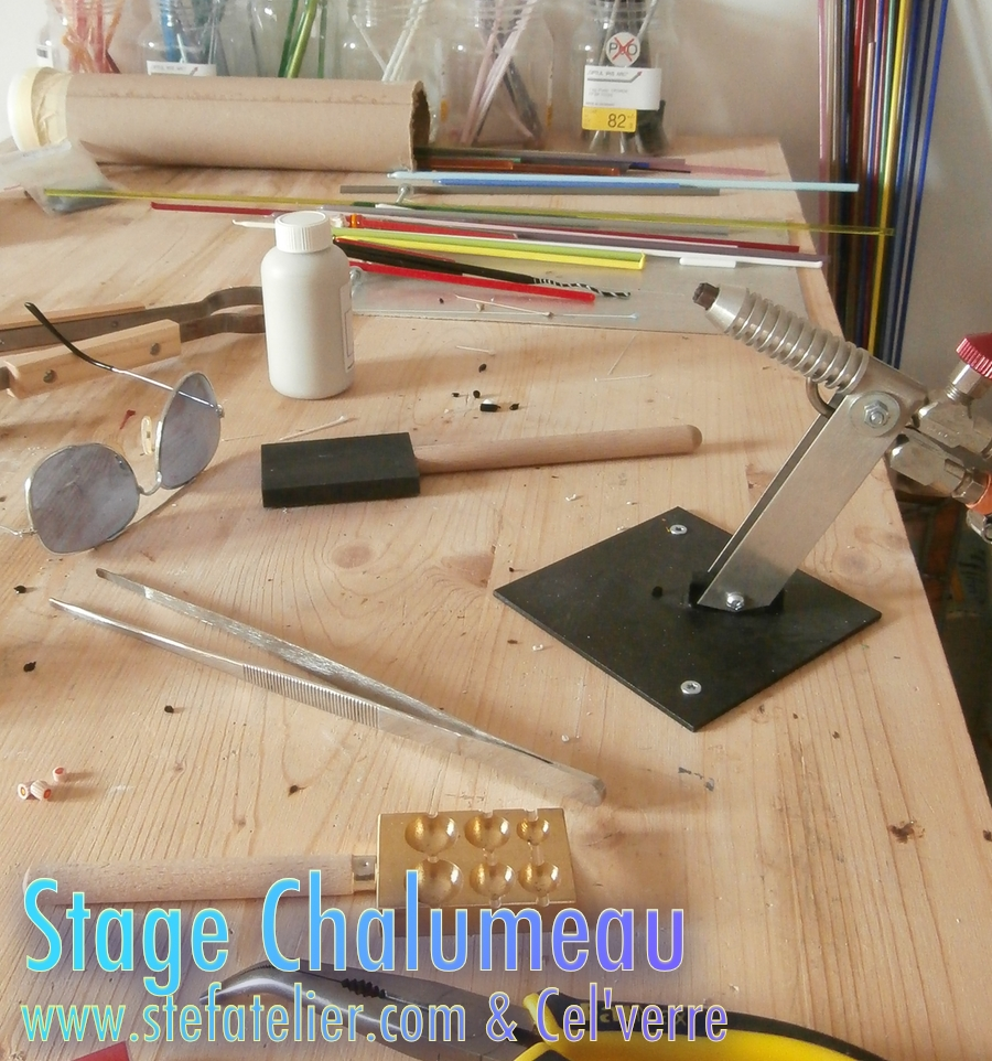 outils stage verre au chalumeau