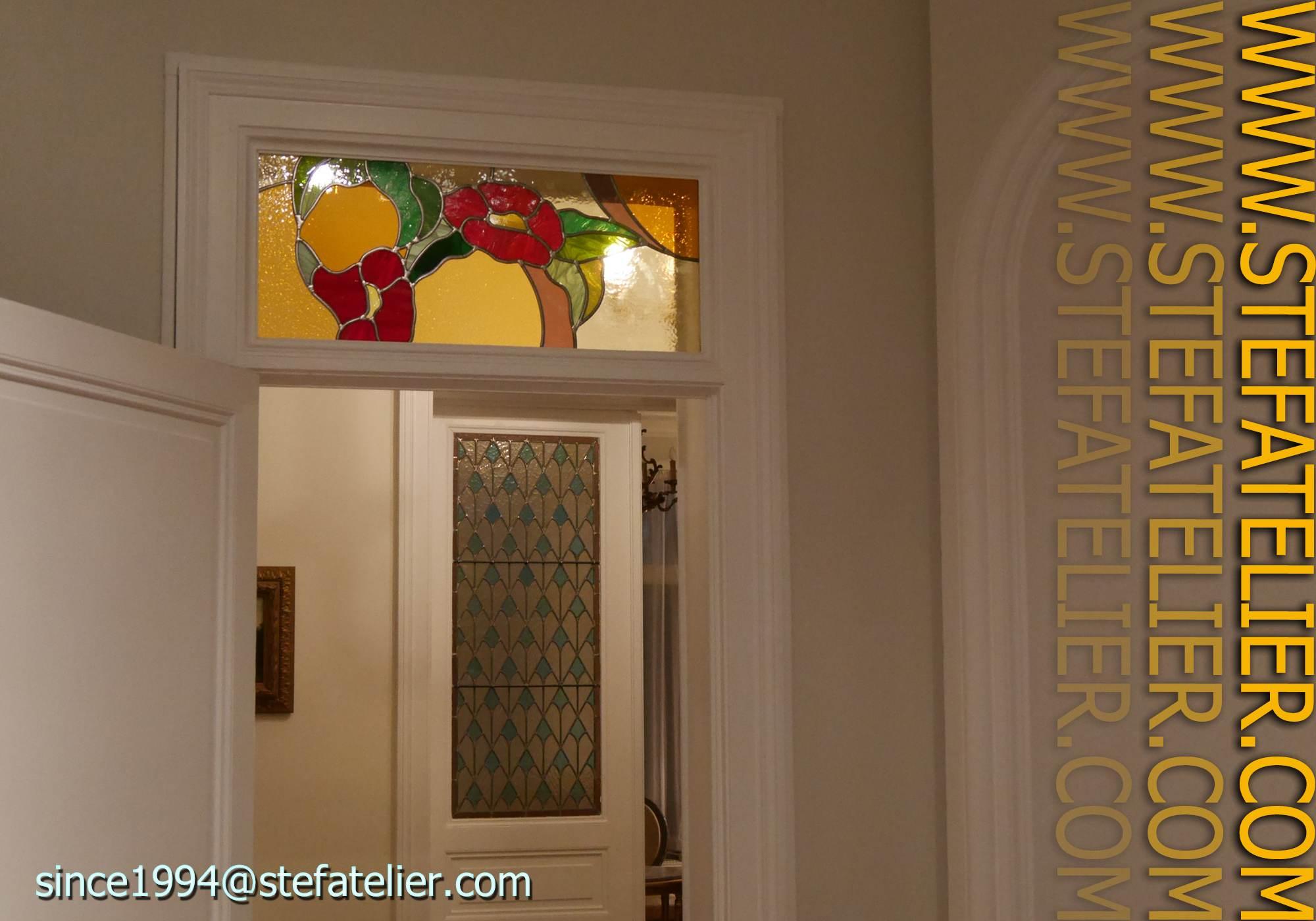 Impostes de portes stef atelier vitraux d art for Fenetre imposte