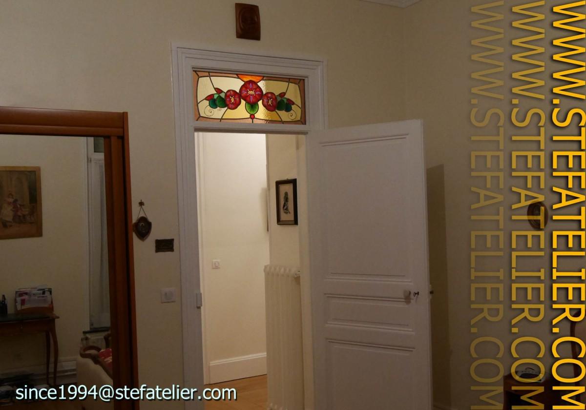 vitraux impostes de portes stef atelier vitraux d art. Black Bedroom Furniture Sets. Home Design Ideas