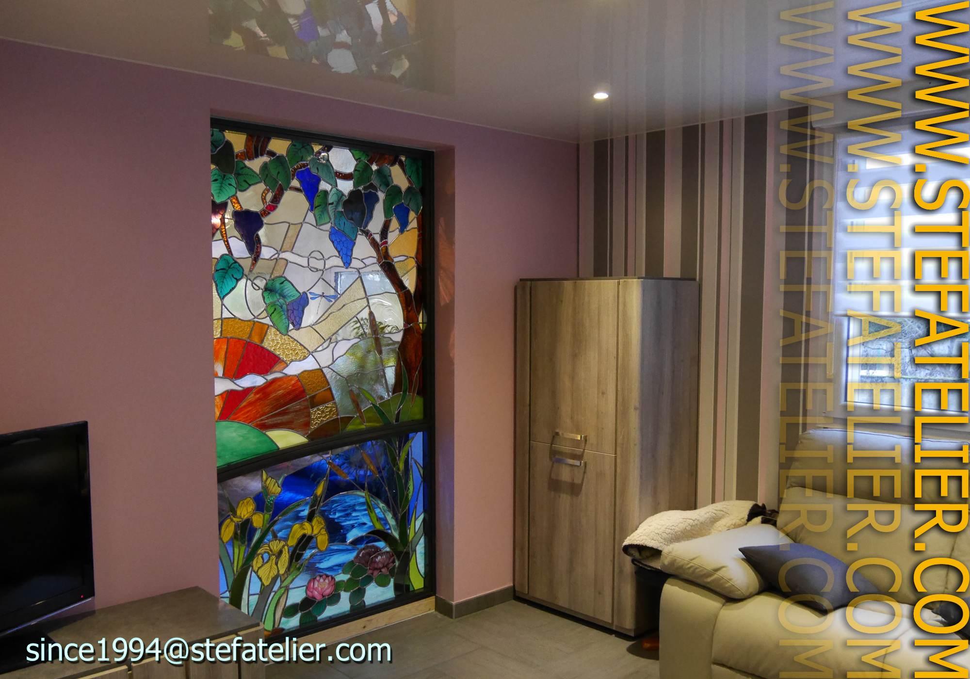 Cr ation vitrail stef atelier vitraux d art for Andrieux la maison du vitrail