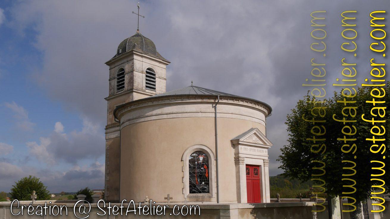 vitrail saint jacques de compostelle à Rigny saint martin