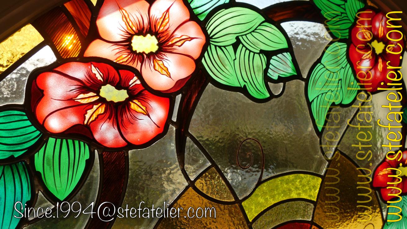 Vitrail-fleurs-