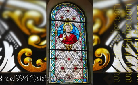 vitrail saint pierre pour l'église de liaucourt par Stef Atelier vitraux d'art