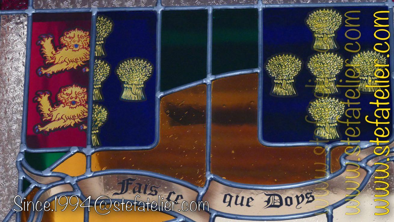 écusson normands en vitrail