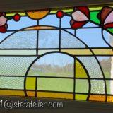 vitrail moderne fleurs 3