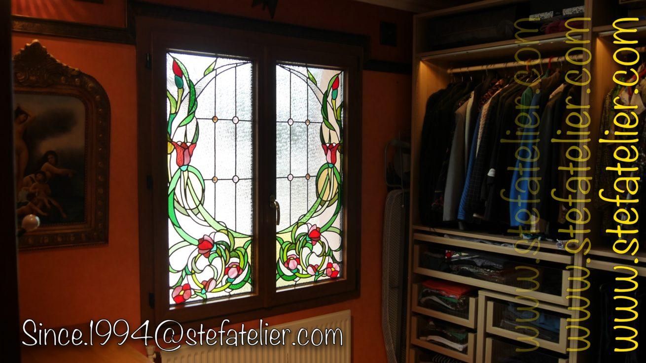 Vitrail-vitrerie-fleur