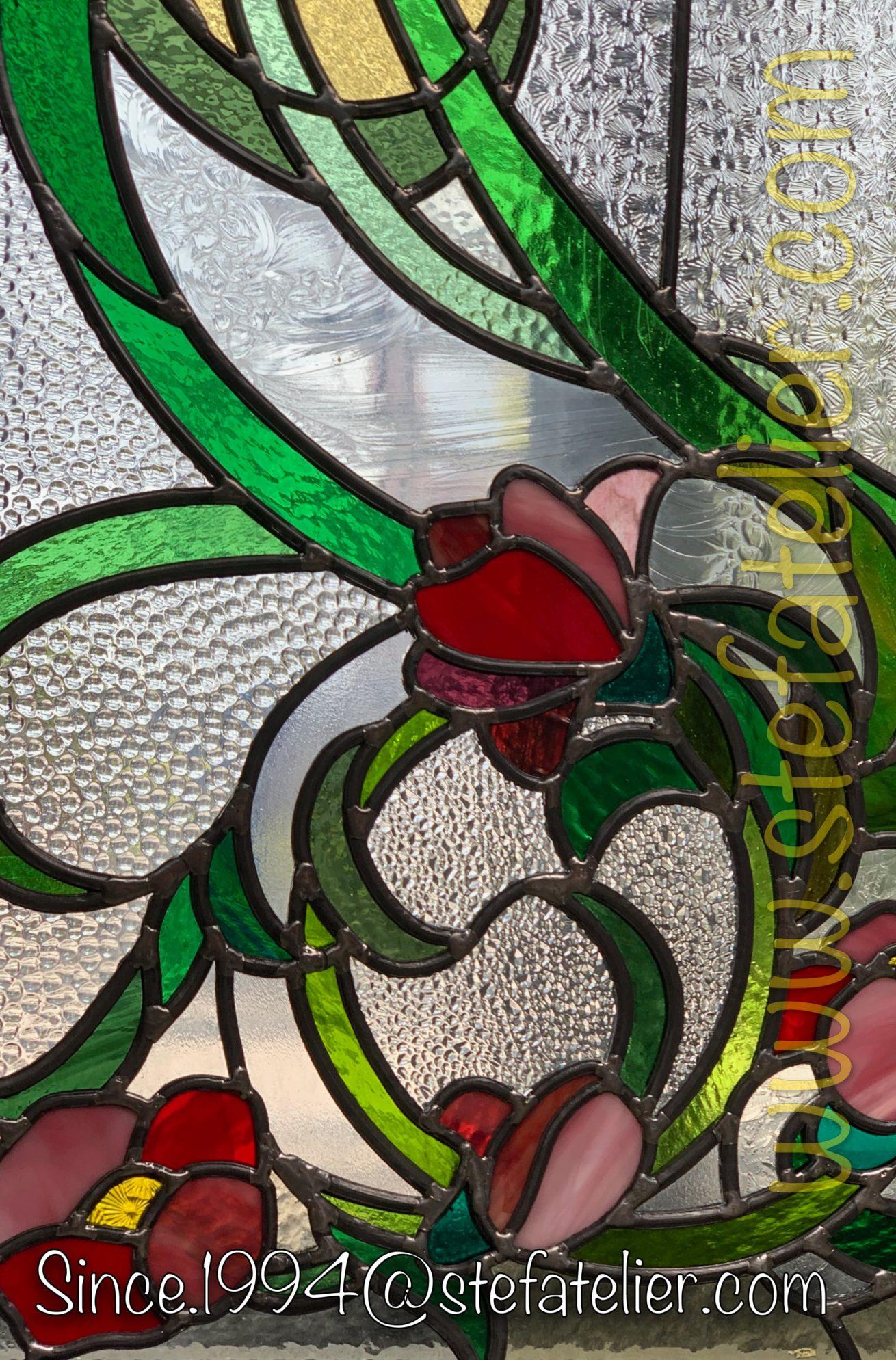 vitrerie-fleur-rouges-vitrail