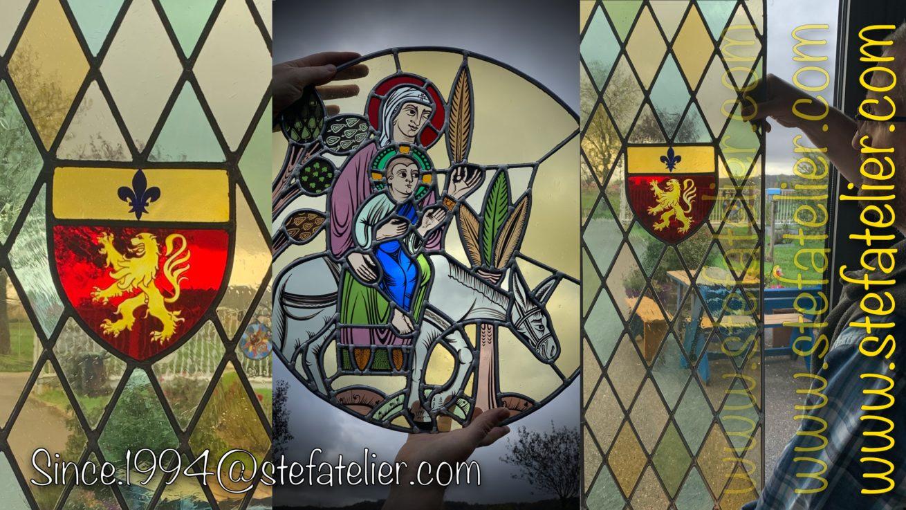 vitraux au plomb pour une chapelle