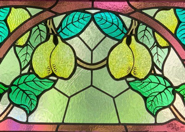 vitrail motifs de citrons