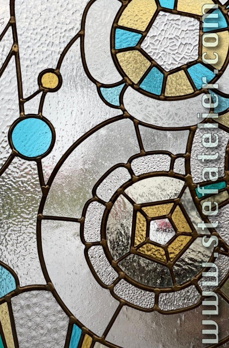 vitrail art décoratif avec verres imprimés